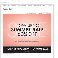 Calvin Klein - Summer Sale – Now Up To 60% Off