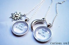 Moon Of My Life, My Sun & Stars -  Game Of Thrones Fandom Necklace (Curious Owl)