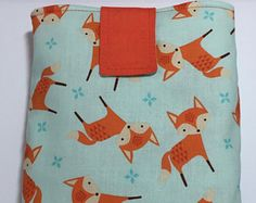 Small fabric foxy book sleeve bookgogo