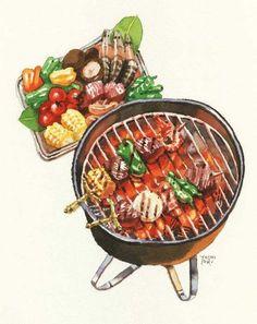 Food N, Food And Drink, Food Sketch, Watercolor Food, Food Painting, Food Drawing, Logo Food, Food Humor, Food Illustrations