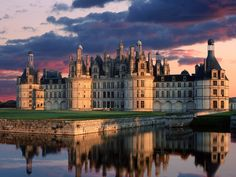 """Chambord...built by King Louis XIV as a hunting lodge...had a """"mall"""" on top for his queen and her ladies to shop while they waited for their men to come back from the hunt!  So cool!"""