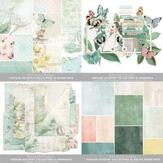 20 designer 12x12 papers, assorted ephemera and a pack of worn and torn papers perfect for layering! Available for instant download at katiepertietdesigns.com