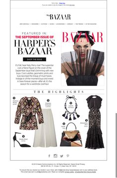 bazaar fashion email - shop the issue