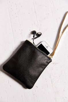Looks good, not functional. Cold Picnic Leather Wristlet Pouch - Urban Outfitters