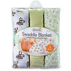 SwaddleMe - Muslin SwaddleSquare 3-Pack, Go Bananas - Walmart.com