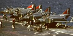 Fighter Aircraft, Fighter Jets, British Aircraft Carrier, Hms Ark Royal, F4 Phantom, Capital Ship, Aircraft Photos, Flight Deck, Royal Navy