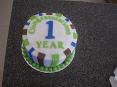 cake for someone celebrating One year of sobriety