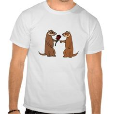 Funny Ferrets in Love Shirt #ferrets #love #shirt #funny #roses #red And www.zazzle.com/allsmilesweddings*