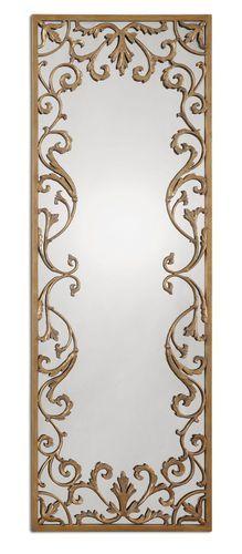 Rectangular Gold Mirror