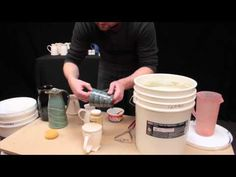 Potter's Choice Glazes -- Waxing Your Pots and Dipping Glazes