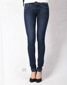 Hằng Jeans - quần jeans nữ xanh mài đậm tôn dáng 181-2. Giá: 399.000đ