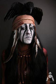 31 Days Of Halloween makeup Tonto - The Lone Ranger 2013 by Amanda Chapman www.facebook.com/amandachapmanphotography #halloweenmakeup #halloweencostume #tonto #tontotheloneranger #longranger #johnnydepp #tontomakeup #tontocostume