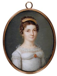 Mrs. Hurtel (Lea Rose Victoria Jude)  1822  watercolor on ivory  painted by John Robinson  Gibbes Museum