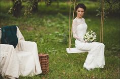 Fitted Style Lace Long Wedding Dress with Lase Sleeves L38, Ivory Lace Wedding Gown, Long Sleeve Wedding Dress by ACreativeAtelier on Etsy https://www.etsy.com/listing/170125740/fitted-style-lace-long-wedding-dress