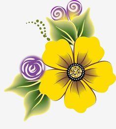Fotos de flores Painted Clay Pots, Bird Houses Painted, Painted Rocks, Paper Flowers Craft, Flower Crafts, Flower Tattoo Designs, Flower Designs, Art Drawings For Kids, Sunflower Art
