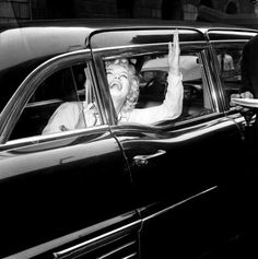 """Marilyn Monroe leaving Lenox Hill Hospital, 1959. """