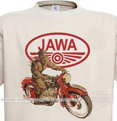 Motorcycles Men's t-shirt  JAWA motorcycles Retro by retrobel1