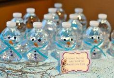 Snowman water bottles