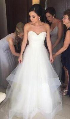 Organza Wedding Dresses,Beach Wedding Dress,Sweetheart Wedding Dresses,A-Line Wedding