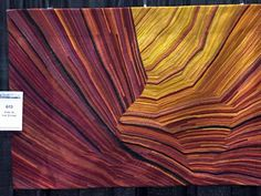 Kimberly Lacy, Fire in the Canyon Fiber Art Quilts, Art Quilting, Quilt Art, Textile Artists, Fabric Art, Quilt Patterns, Needlework, Abstract Art, Wall Art