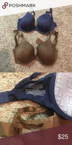 Victoria Secret Bras Brown and Blue Victoria Secret 32DD uplift semi demi bras Victoria's Secret Intimates & Sleepwear Bras