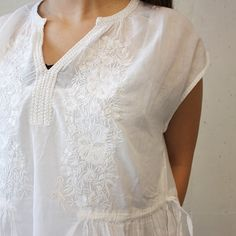 ne Quittez pas (ヌキテパ) 刺繍サロペット WHITE | La Barba 通販