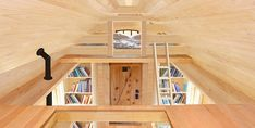 plans tiny house; loft catwalk | The upstairs loft of the Marmara-style 284-square-foot tiny home ...