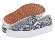Vans Classic Slip On Chambray Dots Dress Blues, Vans, Shoes, Blue