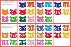 Put the numbers on the clothesline - free printable math and fine motor activity to work on number recognition, counting, skip counting, and more #freeprintables #finemotor || Gift of Curiosity