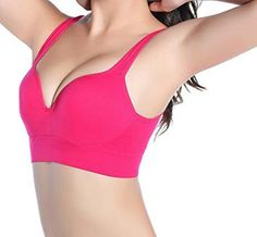 9b8ecad810 ARRIVE GUIDE Womens Loose Seamless Push Up Running No Underwire Sport Bra  apricot S at Amazon Women s Clothing store