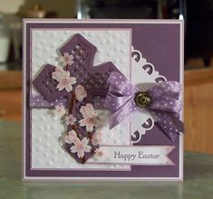 Easter Cross & Pink Dogwood Flowers by Sylvaqueen - Cards and Paper Crafts at Splitcoaststampers