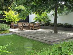 garten lounge Lounge tuin in IJsselstein - Van Jaarsveld Tuinen Small Garden Design, Garden Landscape Design, Outdoor Landscaping, Outdoor Gardens, Garden Seating, Outdoor Settings, Garden Structures, Garden Inspiration, Decks