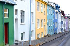 The colors of the houses in Reykjavik are so fun and bright!