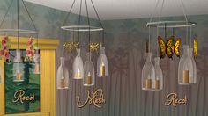 New Mesh - Flaschenkronleuchter und 2 Recols - Möbel-, Deko- und Elektro-Meshes von Ermelind - PatchworkSims2 | New Mesh - bottle chandeliers and 2 recolors - ceiling lamp