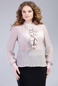 Элегантные блузки для полных