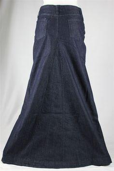 Aviv Long Jean Skirt