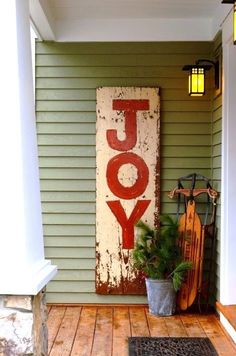 """This simple rustic look says """"Welcome!"""" Perfect for the Holidays!"""