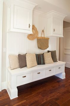 custom cabinetry makes this attractive mudroom space
