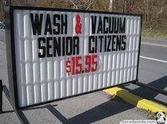 I want the senior citizen discount!
