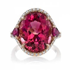 Omi Prive: 10.08 carat Pink Tourmaline and Ruby Ring