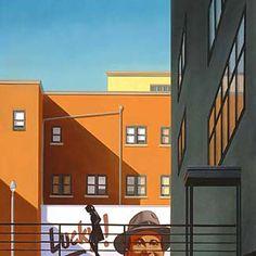 "R. Kenton Nelson | ""Considering Oneself"", 2004. | (oil on panel -- 12"" x 12"")"