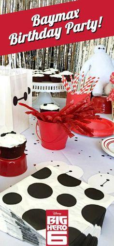 DIY Baymax Birthday Party ~ inspired by the Disney Movie Big Hero 6 Diy Birthday Banner, Birthday Party Decorations, Boy Birthday, Birthday Cakes, Birthday Ideas, Big Hero 6 Party Ideas, Ideas Party, Birthday Presents For Men, 6th Birthday Parties