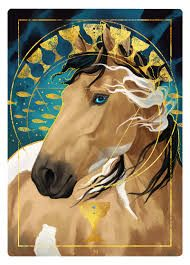 The nine of cups represents contentment and overall satisfaction with what has been achieved. We find ourselves surrounded by our fulfilled wishes. Enjoy this time in your life. Girly Drawings, Horse Drawings, Cute Animal Drawings, Spirit Horse Movie, Drawing Stars, Unicorn Drawing, Horse Artwork, Spirited Art, Beautiful Fantasy Art