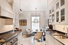 """""""Weekend sales picks are up on the blog!  Head to Beckiowens.com for all the details. Pinning and came across this warm, white + inviting kitchen/nook…"""""""