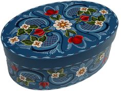 Rogaland Rosemal Oval Cheese Box (LM78)