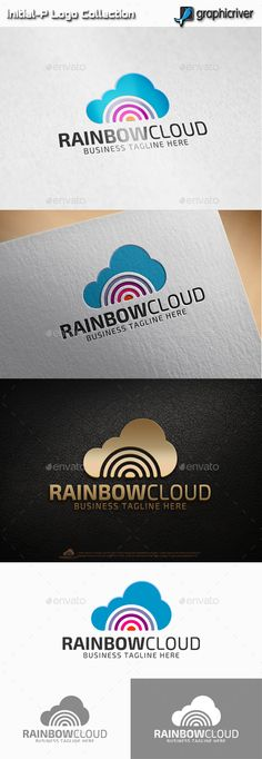 Rainbow Cloud Logo Abstract Logo, Geometric Logo, Logo Cloud, Data Logo, Logo Design Template, Logo Templates, Rainbow Logo, Kids Logo, Great Logos