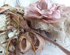 silk sari ribbon and antique lace / lisa jurist / mudhound