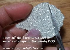 Use Stampin'UP!'s Blossom Builder Punch to make a Candy Kiss - Blog shows a project using the piece