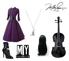 """Black violin"" by aidyn-nuske ❤ liked on Polyvore"