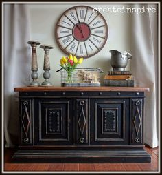 Use just enough black paint to show off the beauty of an intricately detailed chest.